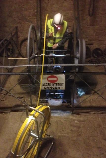 Inspection d'un puits de 40 mètres