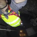 Inspection du puits du Fort Ducrot