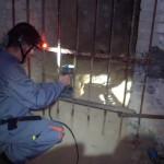 Inspection d'un vieux souterrain…