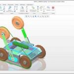 Robot ARES avec les chenilles repliées (version projet)