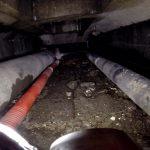 Inspection vidéo de conduites de gaz dans un caniveau