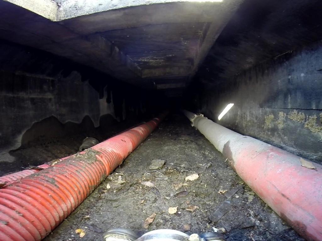 Inspection vidéo d'une conduite de gaz dans un caniveau